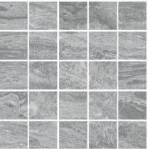 Valstein Dark Grey Glazed Porcelain Natural Finish 50x50mm Mosaic
