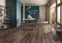 Continental Tiles Imola Kuni 2012TS Dark Brown Wood Effect Floor Tiles 200x1200mm
