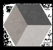 Waxman Traffic dark Hexagonal 25cm Tiles
