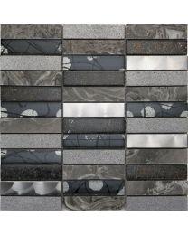 Mosaic and Borders Artist Grey Tile