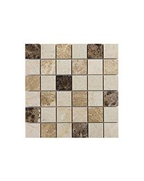 Marshalls Tile and Stone Mosaics Dark Mixed Marble Mosaic 5x5