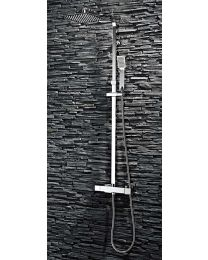 Scudo Bathrooms Showering Lunar Square Rigid Riser Shower