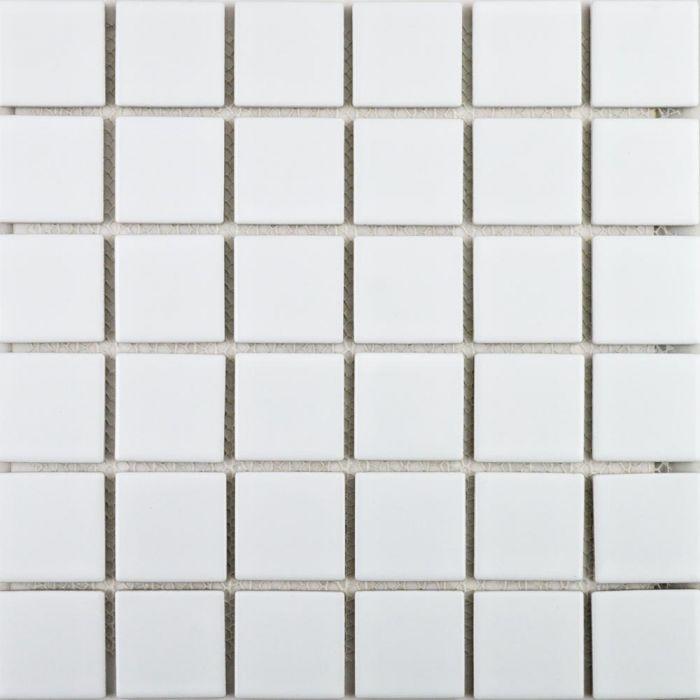 Bijou Square Mosaic Tiles Gloss White Square Large Tiles 316x316mm ...