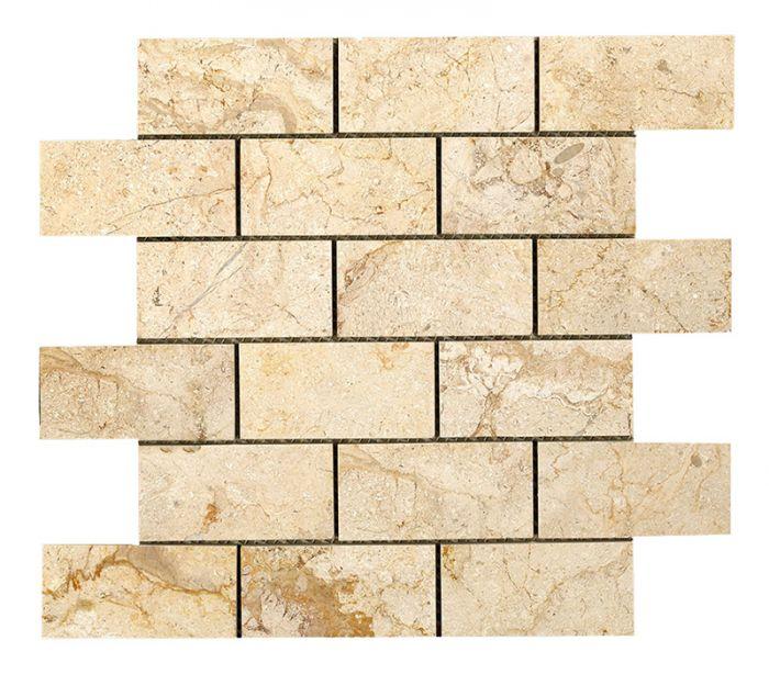 British Ceramic Tile Elite Bali Cream Brick Mosaic Tile - 305x305mm ...