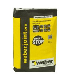 Weber Joint Tle Grout Wide Charcoal 10kg