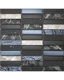 Mosaic and Borders Artist Black Tile