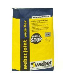 Weber Joint Tle Grout Wide Flex Limestone 10kg