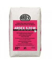 Ardex Adhesive S20W White Stone Tile Adhesive