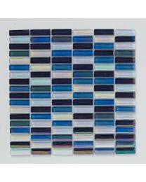 Mosaics Bright and Beautiful Reactive Blue Glass Mosaic 300mm x 300mm