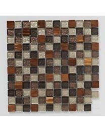 Mosaics Naturals Glass and Stone and Wood Mix Mosaic 300mm x 300mm