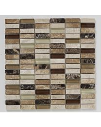 Bayswater Mosaic Beige Linear Emprador/Glass 305X305
