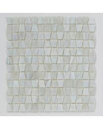 Mosaics Luxe White Glacier Glass Mosaic 300mm x 300mm