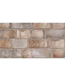 British Ceramic Tile HD Paragon Rustic Brick Brown Matt Wall Tile 298x498mm