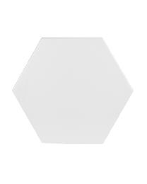 British Ceramic Tile Hexagon White Multiuse Tile 175x202mm