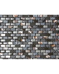 Marshalls Tile and Stone Mosaics Dahli Grey Brick Mosaic