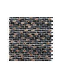 Marshalls Tile and Stone Mosaics Dahli Black Brick Mosaic