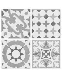 Hoxton Grey Decor Tiles - 142x142mm