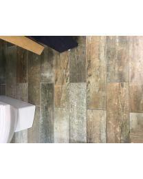 Savona Natural Wood Effect Porcelain Wall & Floor Tile - 150x600mm