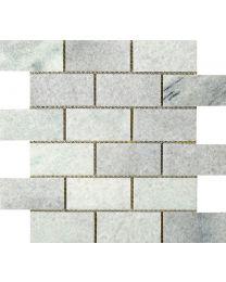 Kensington Rice White Brick Mosaic Tile - 305x305mm