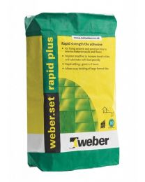 Weber Tile Adhesives Set Rapid Plus Light Grey 10kg