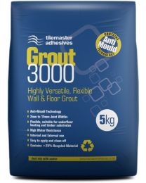 Tilemaster Adhesives Grout 3000 Mid Grey 5kg