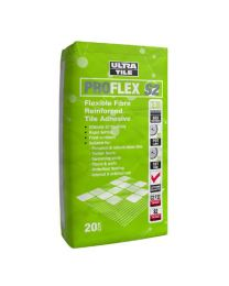 Ultra ProFlex S2 Flexible Fibre Reinforced Tile Adhesive White x 20 bags