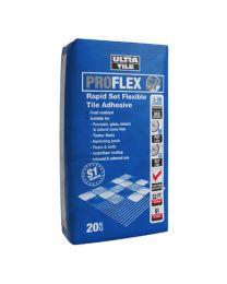 Ultra ProFlex SP Rapid Set Flexible Tile Adhesive White x 20 bags