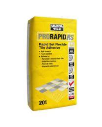 Ultra ProRapid RS Rapid Set Flexible Tile Adhesive Grey x 20 bags