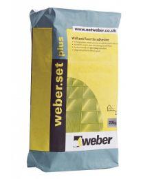 Weber Tile Adhesives Set Plus White 20kg
