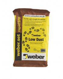 Weber Tile Adhesives Set Rapid SPF Low Dust Grey 10kg