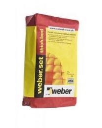 Weber Tile Adhesives Set Thick Bed White 20kg