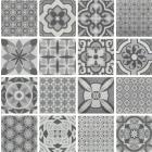 Continental Tiles Vintage Grey Mix Decor Tile