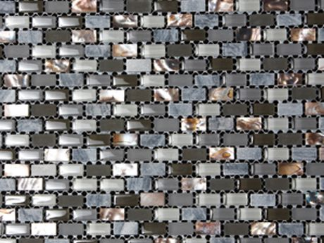 Marshalls Tile And Stone Mosaics Dahli Grey Brick Mosaic - Dah tile