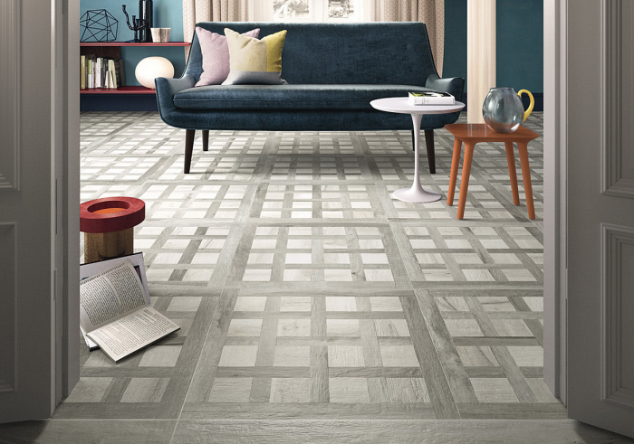 Continental Tiles Kuni Intarsi WG White/Grey Wood Effect Floor Tiles ...