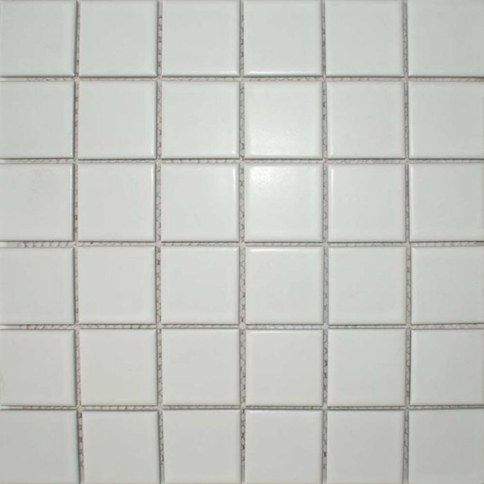 Zoro Mosaic Tiles Matt White Square Large 316x316mm