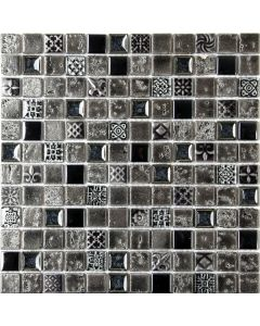 Mosaic & Borders Malla Imperium Graphite Tile