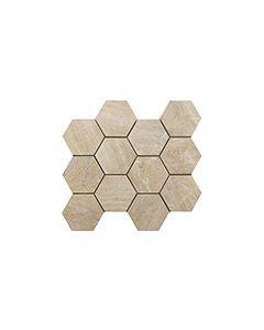 Continental Tiles Sintesi Mystone Sand Mosaico Hexagonal Wall and Floor Tiles 3034