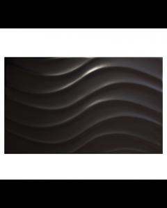 Vitra Streamline Wave Matt Black Tile - 400x250mm
