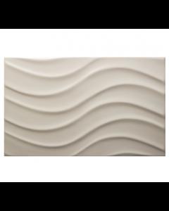 Vitra Streamline Wave Matt White Tile - 400x250mm