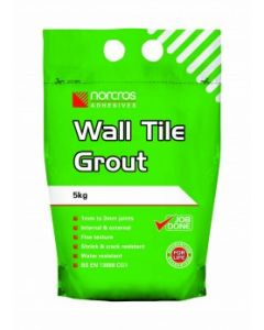 Norcros Adhesives Wall Tile Grout White 5kg x3