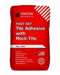 Norcros Adhesives Fast Set Tile Adhesive with Rock-Tite 10kg