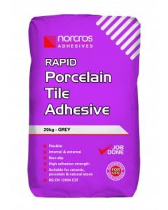 Norcros Adhesives Rapid Porcelain Adhesive Grey
