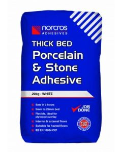 Norcros Adhesives Thick Bed Stone & Porcelain Adhesive White