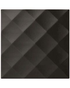 Studio Conran Ridge Black Gloss Tile - 198x198mm