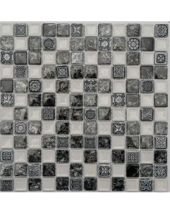 Marshalls tile and stove Aster mosaic