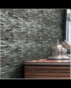 Marshalls tile and stove Iris mosaic