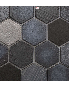Marshalls Tile and Stone Lava Maskali Hexagon Mosaic -  305x260mm