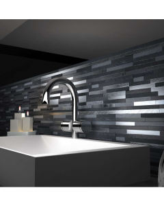 Marshalls Tile And Stone Silver Lava Stick Mosaic - 253x240mm