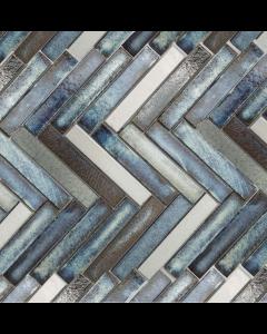 Marshalls Tile And Stone Lava Maldives Herringbone Mosaic - 325x267mm