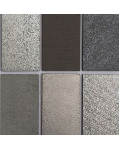 Marshalls Tile and Stone Lava Silver Brick Wall Tiles-  150x75mm